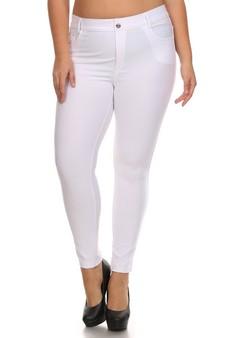 6f33ea2defc Women s Cotton-Blend 5-Pocket Skinny Jeggings - Plus
