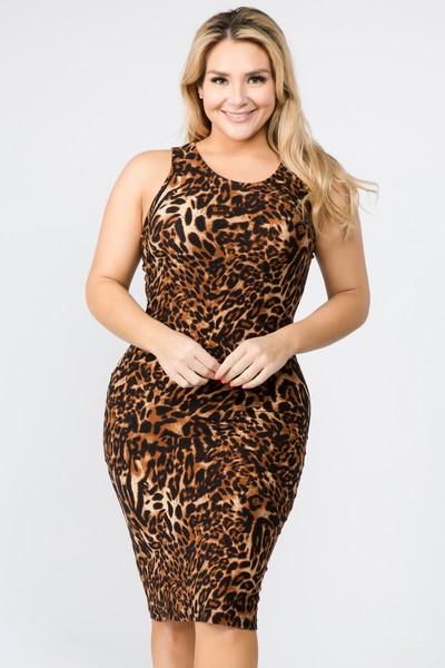 Women\'s Cheetah Print Bodycon Dress - Wholesale - Yelete.com
