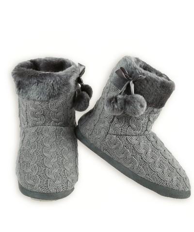 Womens Cable Knit Slipper Boots Socks Hosiery Wholesale Yelete